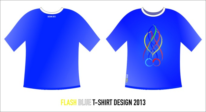 Flash Blue Desain T-Shirt